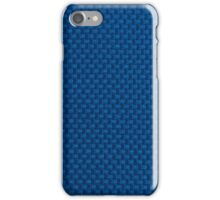 Blue fabric texture iPhone Case/Skin