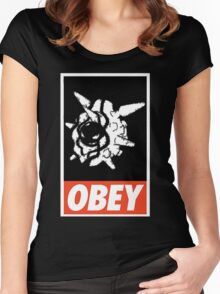 OBEY Cloyster Women's Fitted Scoop T-Shirt