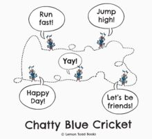 Chatty Blue Cricket Kids Tee