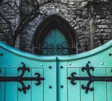 Blue Church Gates Sticker