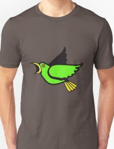 Bird flying animal cool nature comic Unisex T-Shirt