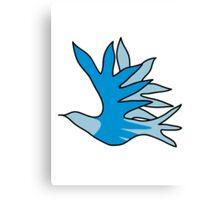Dove bird animal fly design Canvas Print