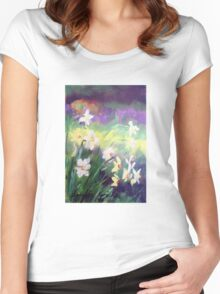 Majestic Daffodils Women's Fitted Scoop T-Shirt