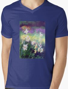 Majestic Daffodils Mens V-Neck T-Shirt