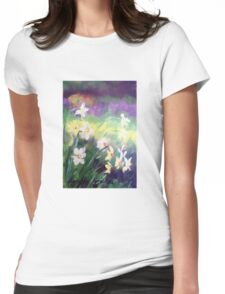 Majestic Daffodils Womens Fitted T-Shirt