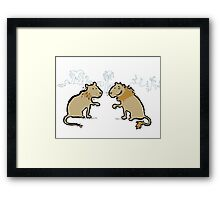 good hair - bad hair lions Framed Print