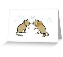 good hair - bad hair lions Greeting Card