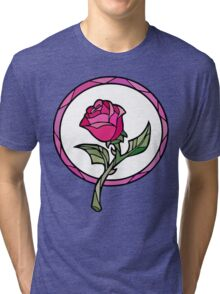 Stained Glass Rose | Beauty and the Beast Tri-blend T-Shirt