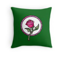 Stained Glass Rose | Beauty and the Beast Throw Pillow