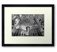 Galleria Vittorio Emanuelle 11, Milan, Italy.  Framed Print