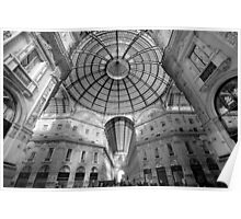Galleria Vittorio Emanuelle 11, Milan, Italy.  Poster