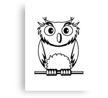 OWL bird nature uhu cool comic Canvas Print
