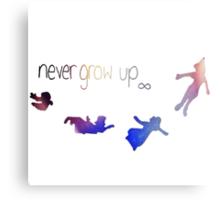 Never Grow Up-Peter Pan Canvas Print