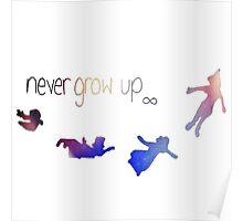 Never Grow Up-Peter Pan Poster