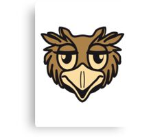OWL bird head uhu cool comic Canvas Print