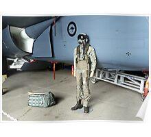 RAAF F-111 Aircraft Pilot Poster