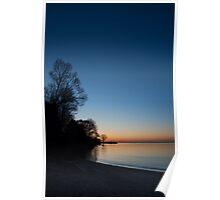 Orange Dawn Chasing the Blue Night Away Poster