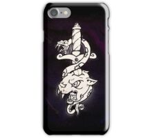 Old school snake and dagger iPhone Case/Skin