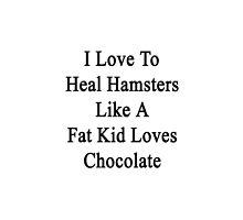 I Love To Heal Hamsters Like A Fat Kid Loves Chocolate  by supernova23