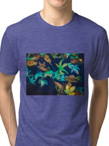 Blue Leaves Tri-blend T-Shirt