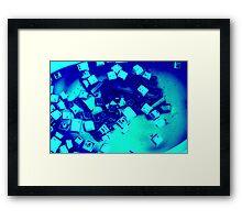 Blue Screen of Buttons Framed Print