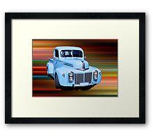 The Old Blue Ute. Framed Print