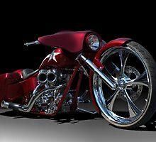 Custom Bagger Motorcycle by TeeMack