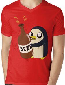 Gunter Loves Beer Mens V-Neck T-Shirt