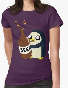 Gunter Loves Beer Womens Fitted T-Shirt