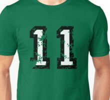 Number Eleven - No. 11 (two-color) white Unisex T-Shirt