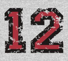 Number Twelve - No. 12 (two-color) red by theshirtshops