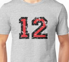 Number Twelve - No. 12 (two-color) red Unisex T-Shirt