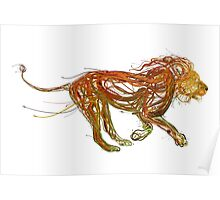 Wire Lion Poster