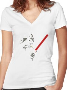 VADER SMOKE Women's Fitted V-Neck T-Shirt