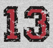 Number Thirteen - No. 13 (two-color) red Kids Clothes