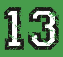 Number Thirteen - No. 13 (two-color) white by theshirtshops