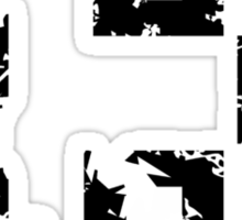 Number Thirteen - No. 13 (two-color) white Sticker