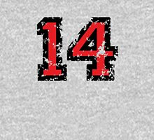 Number Fourteen - No. 14 (two-color) red Unisex T-Shirt