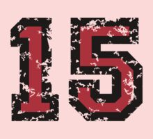 Number Fifteen - No. 15 (two-color) red Kids Clothes