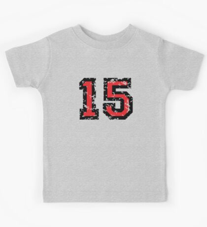 Number Fifteen - No. 15 (two-color) red Kids Tee