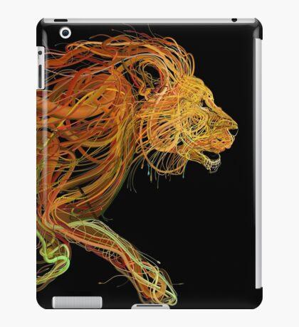 Wire Lion iPad Case/Skin
