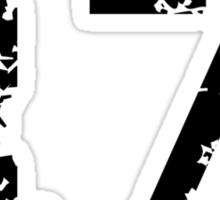 The Number Seventeen - No. 17 (two-color) white Sticker