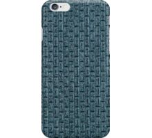 Blue vinyl texture iPhone Case/Skin
