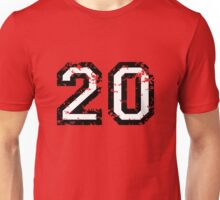 Number Twenty - No. 20 (two-color) white Unisex T-Shirt