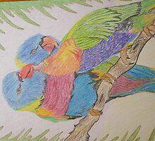 """""""Lovebirds"""" by tinikas1art"""