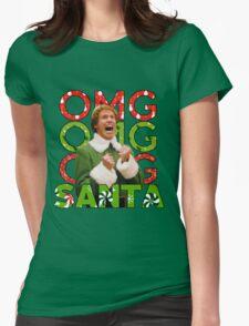 OMG SANTA! Womens Fitted T-Shirt