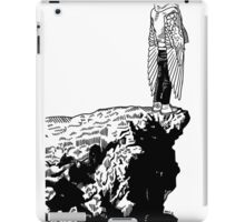 Standing on the cliff face iPad Case/Skin