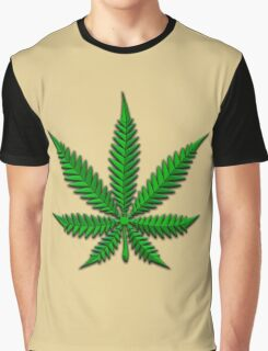 Weed Leaf Graphic T-Shirt