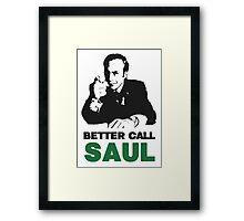 Better Call Saul (White) Framed Print