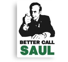 Better Call Saul (White) Canvas Print